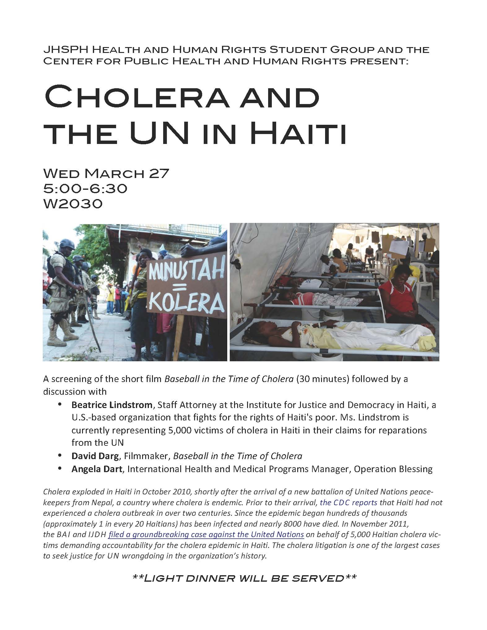 Cholera and the UN_flyer