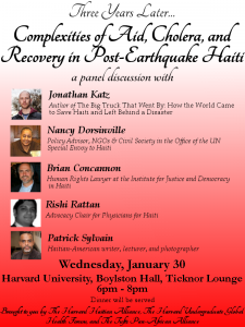 Aid, Cholera, Recovery in Haiti-Flyer